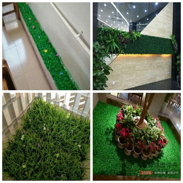 Simulation plant wall artificial fake lawn indoor simulation green plant high grass encryption plastic wall hanging decorative turf