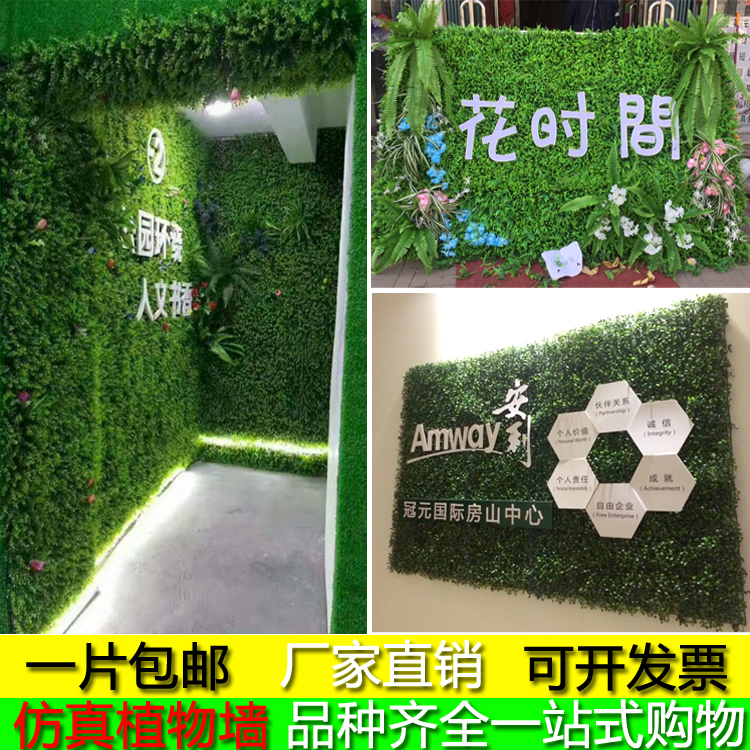 Simulation plant wall green wall lawn artificial turf plastic fake grass decoration blue living room window wall decoration