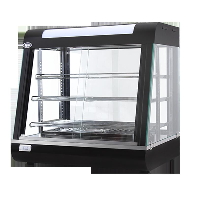 锦十邦保温柜展示柜 商用食品汉堡熟食台式恒温箱玻璃三层陈列柜