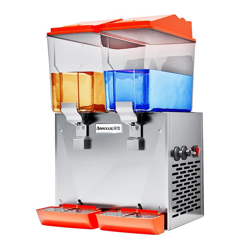 安雪果汁机商用双缸冷热型饮料机商用全自动售卖机奶茶咖啡搅拌机