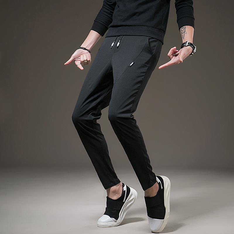 GXG Jmoon男装九分裤男裤子男韩版夏季2018新款修身小脚休闲9分裤