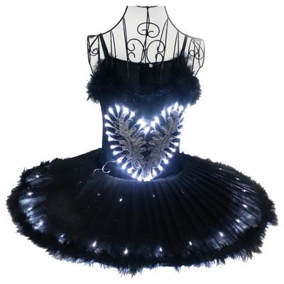 Luminous ballet dancers, performing suits, adult fluorescent dance skirts, costumes, LED lantern dance costumes