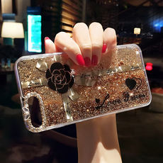 Apple 6 mobile phone shell full-wedge female models iphone6 ​​silicone sets creative quicksand 6splus luxury rhinestones