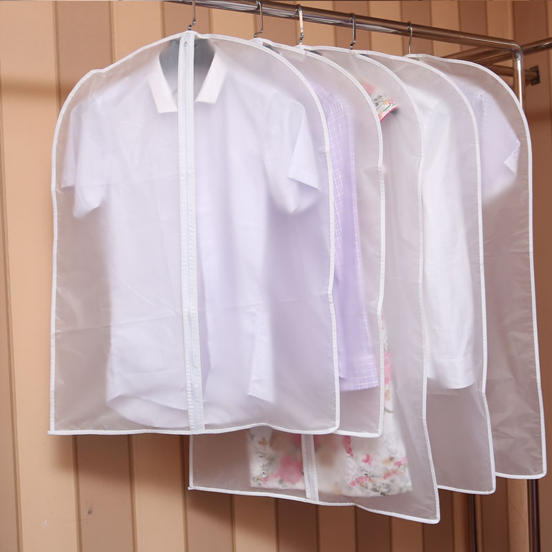 文佳衣服防尘套防尘罩西服西装衣物挂衣袋大衣收纳挂袋衣罩透明