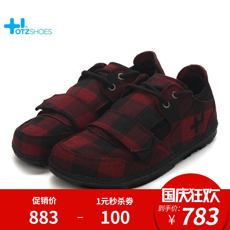 OTZShoes鞋子女红黑格纹帆布鞋低帮大头丑萌鞋INS原宿风休闲鞋