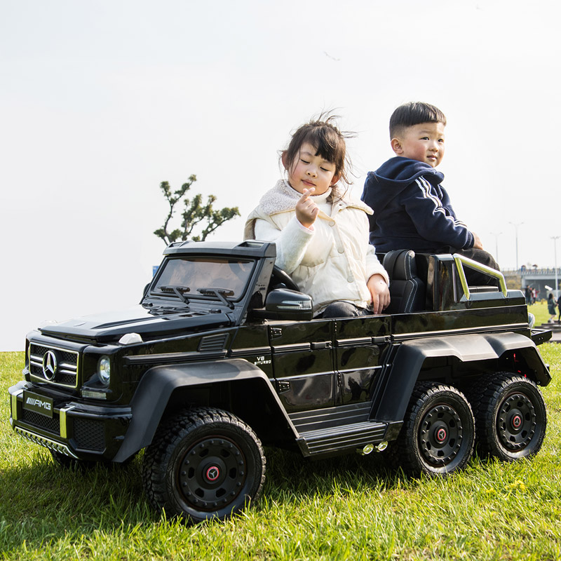 Benz big g children's electric car four-wheel remote control off-road baby toy car can sit adult double child car