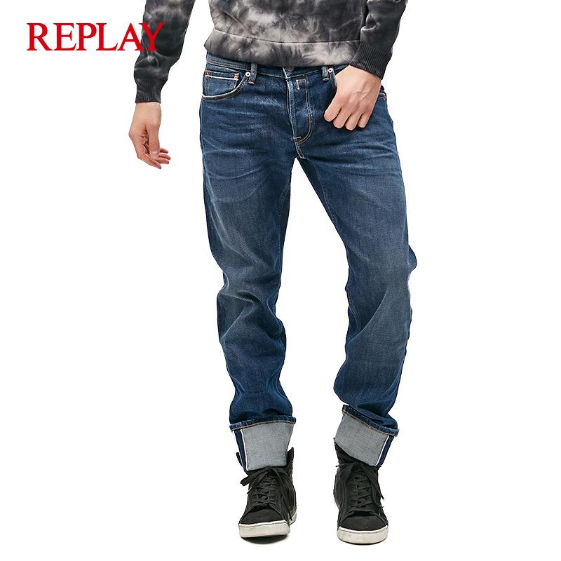 REPLAY 男式长款宽松牛仔裤 8S MCA972.030.121213-X009