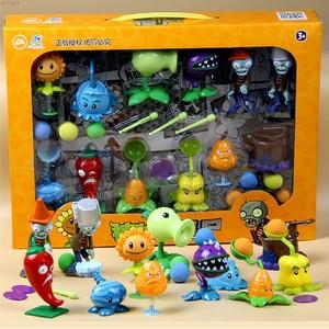 正版授权植物大战僵尸玩具全套可发射植物男孩豌豆巨人公仔2套装