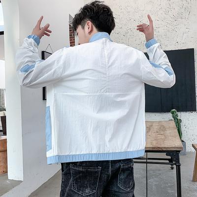 防晒服男夏季超薄透气休闲韩版潮流学生夹克青少年薄款工装外套