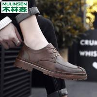 木林森新款韩版英伦休闲鞋皮鞋潮鞋