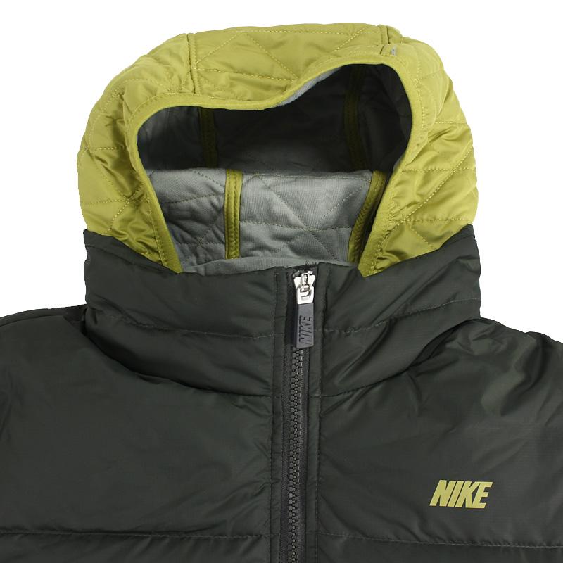 NIKE耐克女装冬季新款防风保暖撞色连帽羽绒服夹克外套541419-005