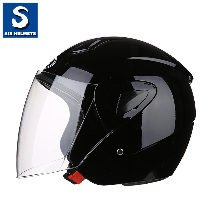 艾狮头盔男机车半盔覆式防晒夏季四季女摩托车个性酷电动车安全帽