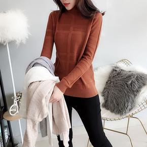 2018秋冬新款韩版内搭高领羊毛针织衫女打底修身毛衣百搭套头纯色