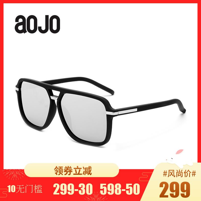 aojo太阳眼镜SA1600003男款方框偏光墨镜时尚 炫彩眼镜开车眼镜