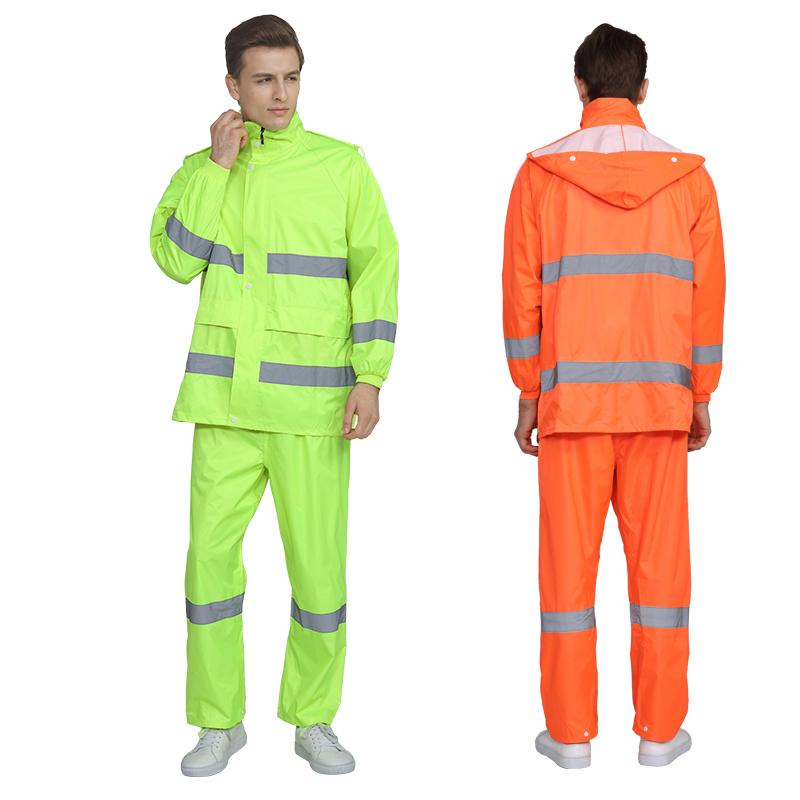 春风环卫服路政防水反光分体式男女单人电动车摩托车雨衣雨裤套装