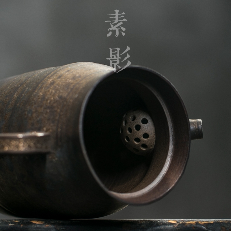 Qiao mu Japanese coarse pottery teapot restoring ancient ways is the pot of gold side variable kung fu tea tea lasts a pot by hand