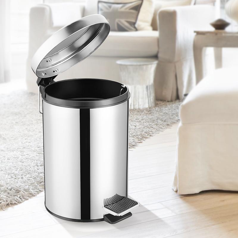 成普 欧式加厚 不锈钢脚踏式垃圾桶