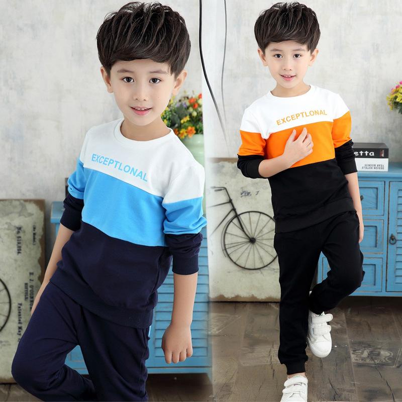 儿童套装男童中大童2018新款春秋宽松个性运动休闲时尚韩版两件套