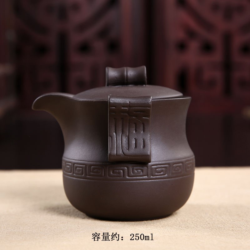 The kitchen zisha teapot filter crack cup yixing undressed ore half a checking ceramic kung fu tea set crack pot