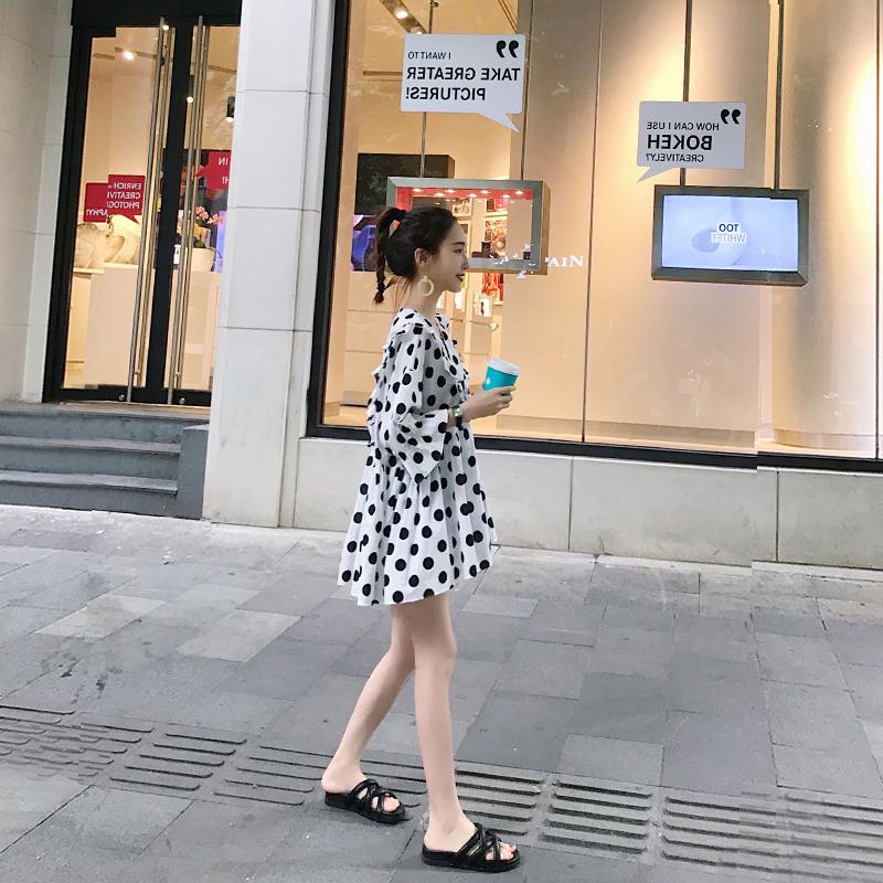 小个子秋装2018新款冷系女装港味复古裙子成熟气质女生法式连衣裙