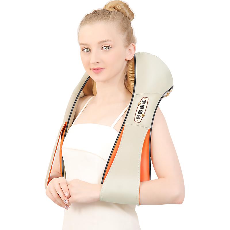 颈椎按摩器仪颈部腰部脖子肩颈披肩部揉捏加热捶打多功能全身家用