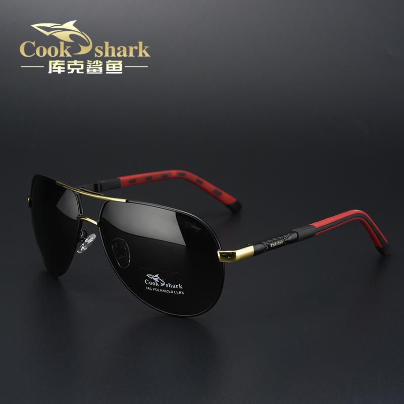 cook shark库克鲨鱼太阳镜男士偏光司机镜开车驾驶眼镜墨镜蛤蟆镜
