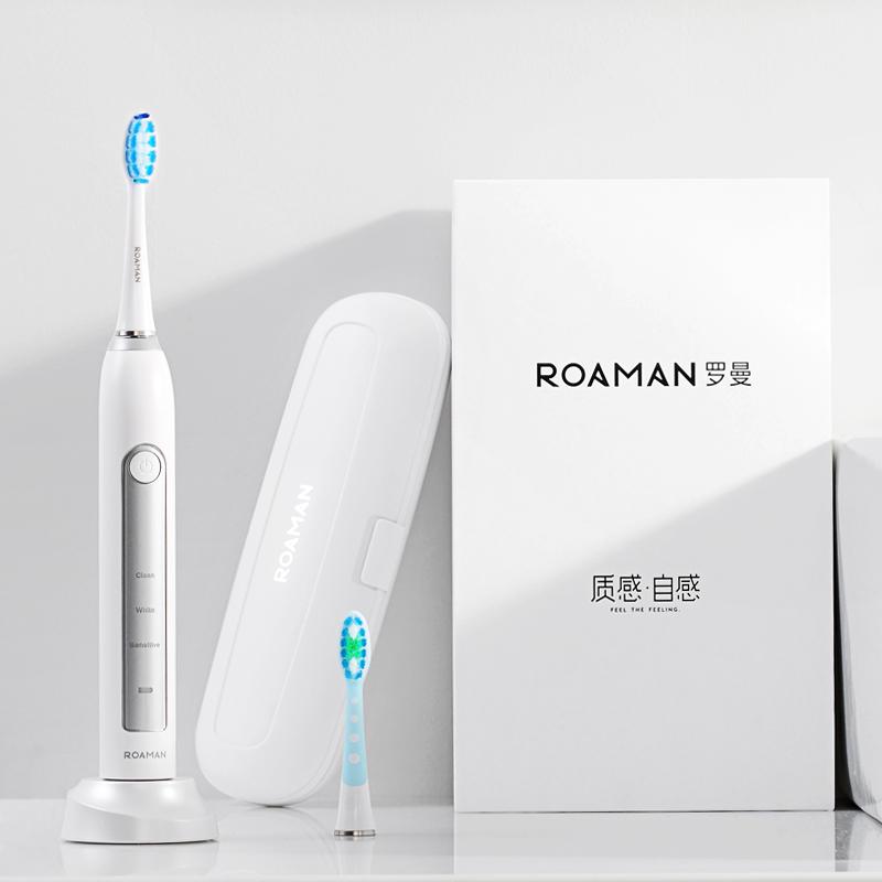 ROAMAN-罗曼声波电动牙刷儿童成人充电式震动自动智能家用软毛