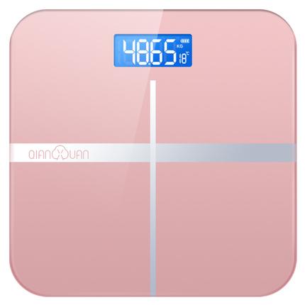 千选电子体重秤精准家用健康称测人体仪成人减肥秤称重计器女智能