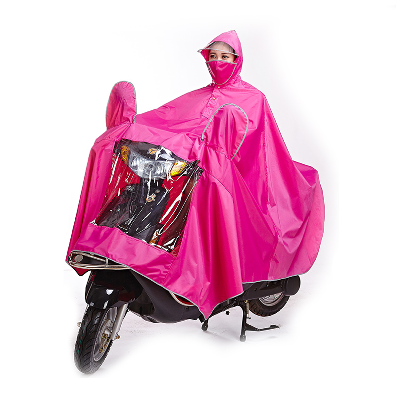 电瓶车电动摩托车单人雨衣成人男女士骑行加大加厚遮雨批防水雨披