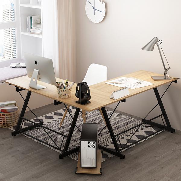 电脑桌家用转角书桌书架组合台式办公桌现代简约经济型省空间桌子