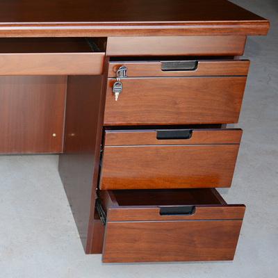 2平米 电脑桌原木色台式商务写字台老板办公桌卧室家用简约现代简易书桌
