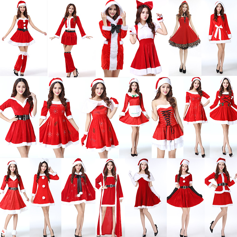 Christmas Costumes Santa Cloths for Adults Girls 458720