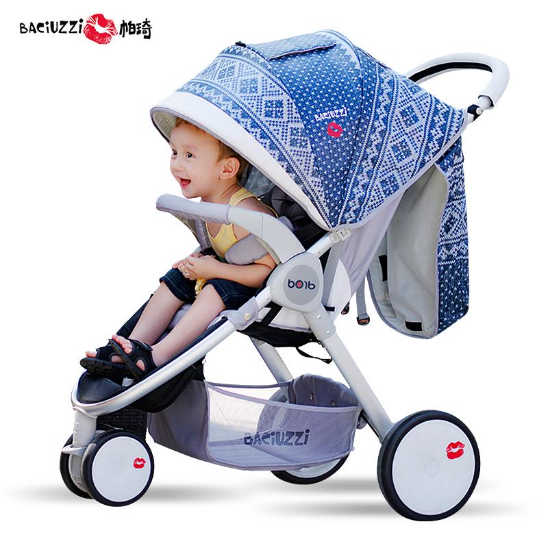 帕琦大三轮婴儿推车高景观儿童手推车可坐可躺超强避震宝宝折叠车_不