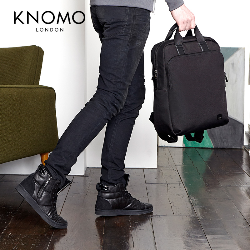 英国KNOMO JAMES新型手提商务双肩包15寸公文包手提双肩背包男包