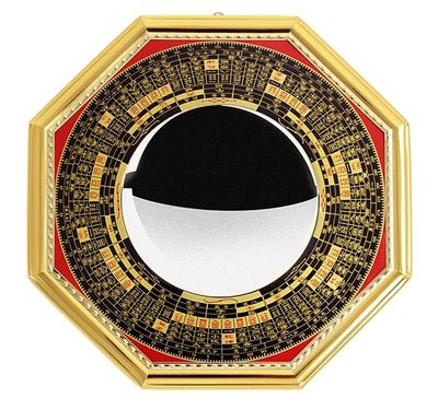 福吉缘 阴阳八卦镜 罗经镜 凸镜凹镜挂件太极阴阳镜摆件
