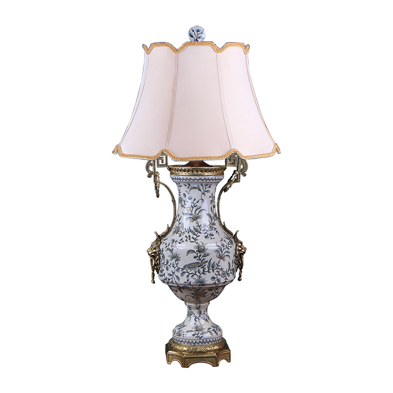 American country paint ceramic with copper lamp creative household act the role ofing is tasted bedroom berth lamp example room soft furnishing articles