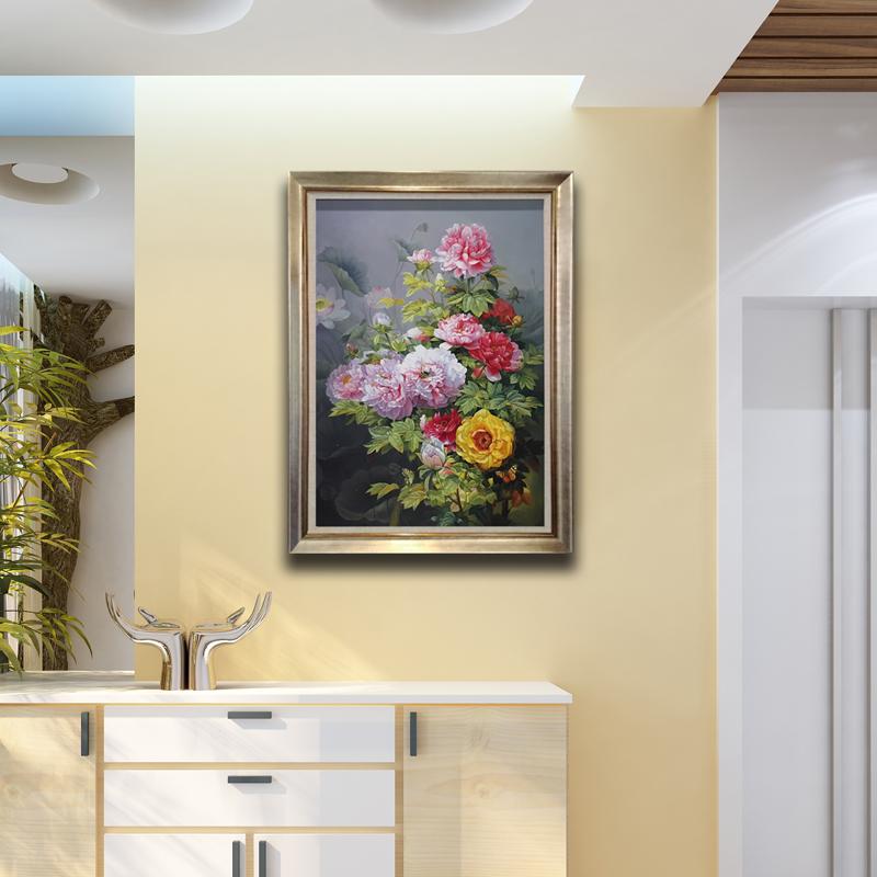 欧式餐厅玄关装饰画卧室书房挂画定制纯手绘古典油画走廊过道壁画