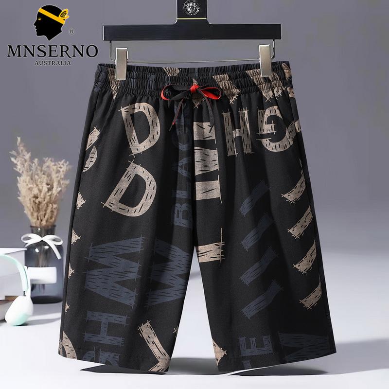 曼西尔奴男士潮流时尚字母印花柔软百搭弹力舒适清爽透气休闲短裤