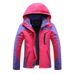 情侣款冲锋棉服衣女装冬季防寒加绒加厚户外运动休闲棉袄男士外套