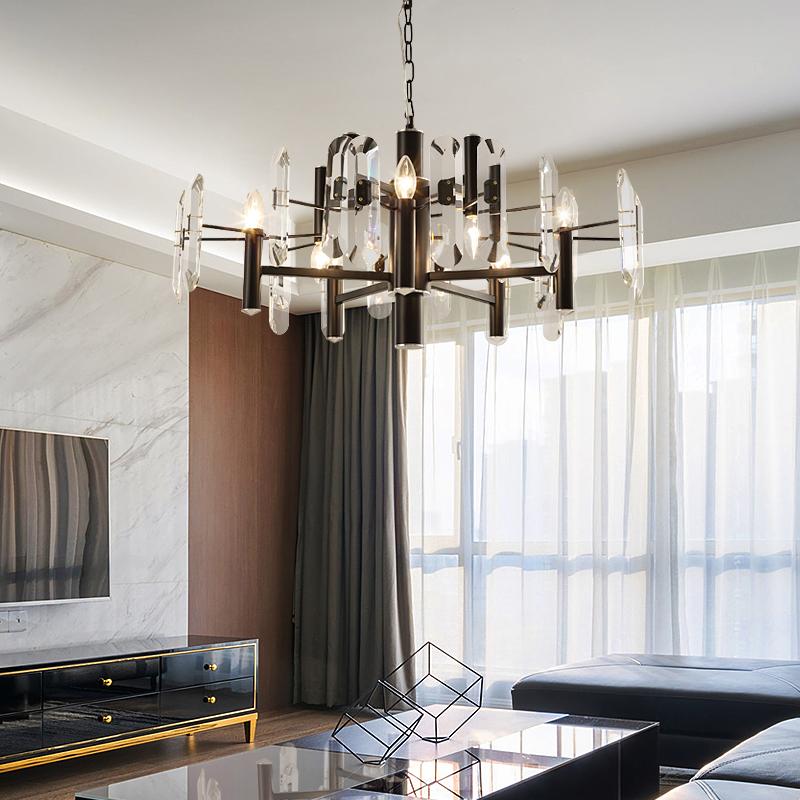 后现代客厅水晶吊灯现代大气艺术灯具餐厅灯创意设计师大厅灯个性