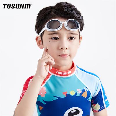 TOSWIM拓胜泳镜儿童高清游泳眼镜男童女童专业防水防雾近视潜水镜