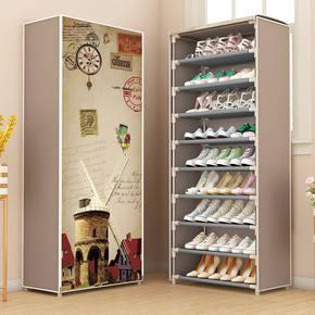 防尘不锈钢鞋架简易多层家用组装宿舍寝室鞋柜收纳柜