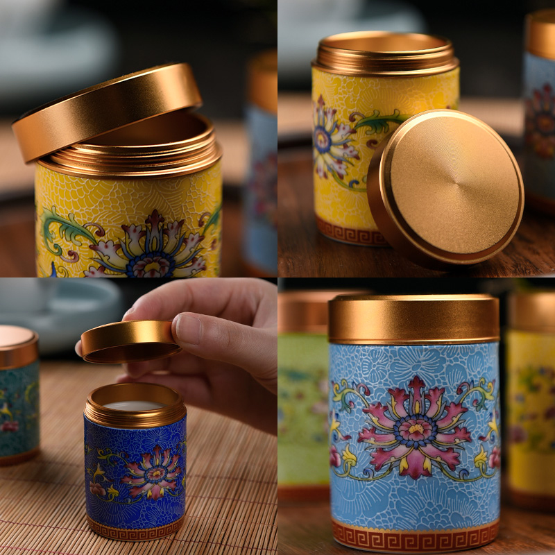 The Story of pottery and porcelain tea pot with mini portable storage receive moisture - proof seal pot tea tea storehouse with zero