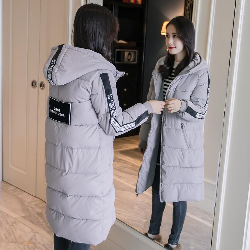 棉服女中长款韩版冬季新款加厚宽松bf学生长过膝面包服棉衣女外套
