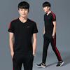 男士休闲运动套装男夏季短袖运动服新款两件套薄款跑步服运动装男