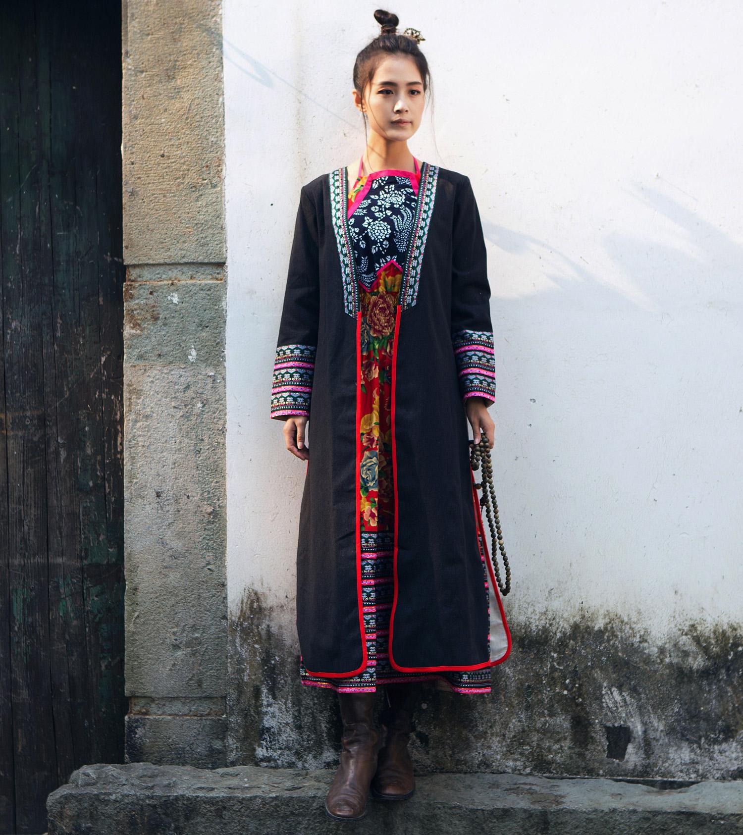 юбка-платье Даньфенсянь творчества: национальные ветер кружевной отделкой фартук Холтер Макси платье/платье кардиган куртка/пальто