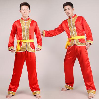 Male singer suit Practice clothes Drumming costume Dragon dance lion costume Yangge costume