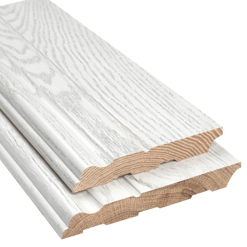 实木踢脚线纯实木地脚线橡木贴脚线墙角线白色地角线开放漆踢脚板