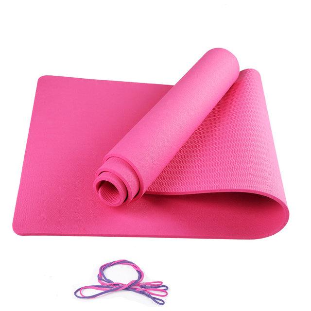 羽克瑜伽垫 初学者 健身垫 女士防滑瑜珈垫加厚加宽加长舞蹈垫子