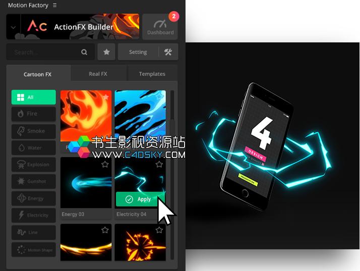 一键安装版 AE脚本-火焰烟雾魔法火星尘土粒子飘散破碎消失特效工具包V3+1套文字标题动画包+1套二维卡通火焰流体特效包 Win/Mac